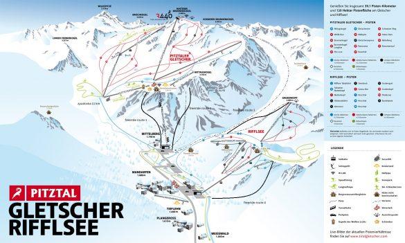 Pitztal - ski mapa