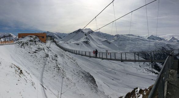 visutý most na vrchu Stubnerkogel