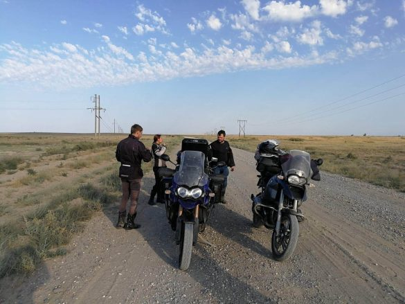 šotolina cestou do Astrachanu, Rusko