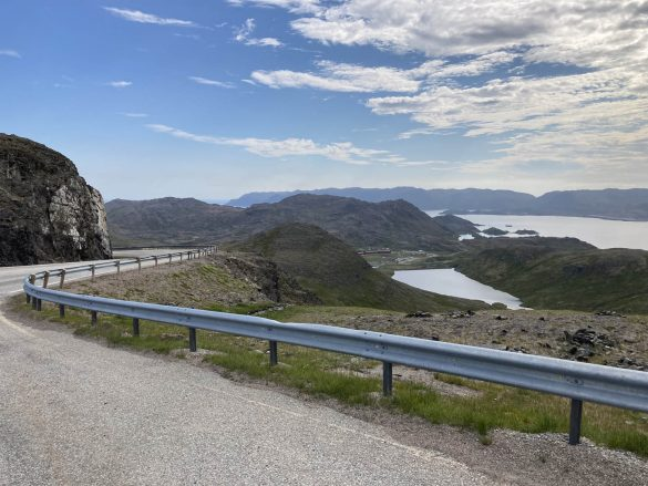 výhľad cestou z Nordkappu, Nórsko