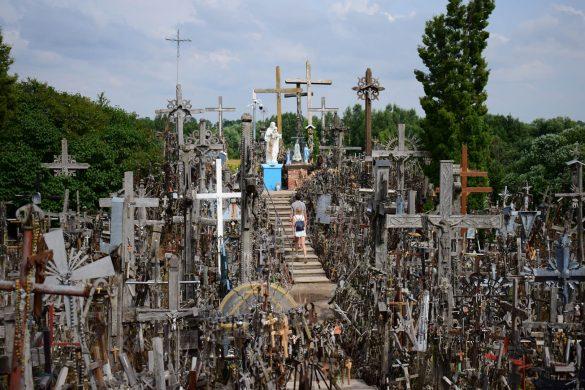 hora krížov v meste Kalnas, Litva