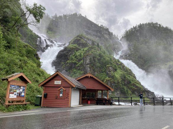 vodopády Låtefossen, Nórsko