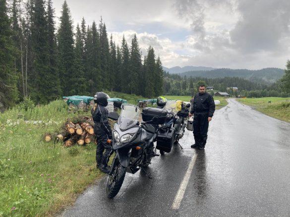 v Nórsku sa daždu nevyhneš