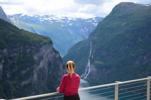 výhľad na Geirangerfjord, Nórsko