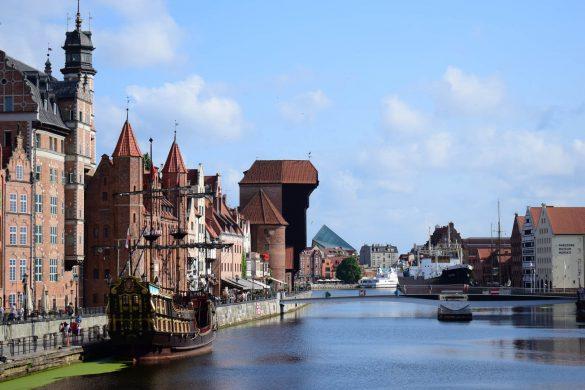 historický žeriav v Gdaňsku, Poľsko