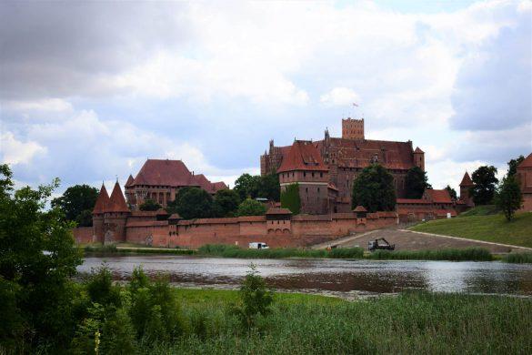 hrad nemeckých rytierov v meste Malbork, Poľsko
