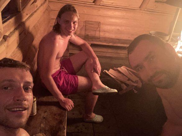 saunovačka s Jančim, Fínsko