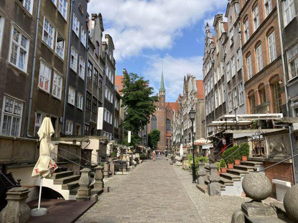 Mariacka ulicu v Gdaňsku, Poľsko
